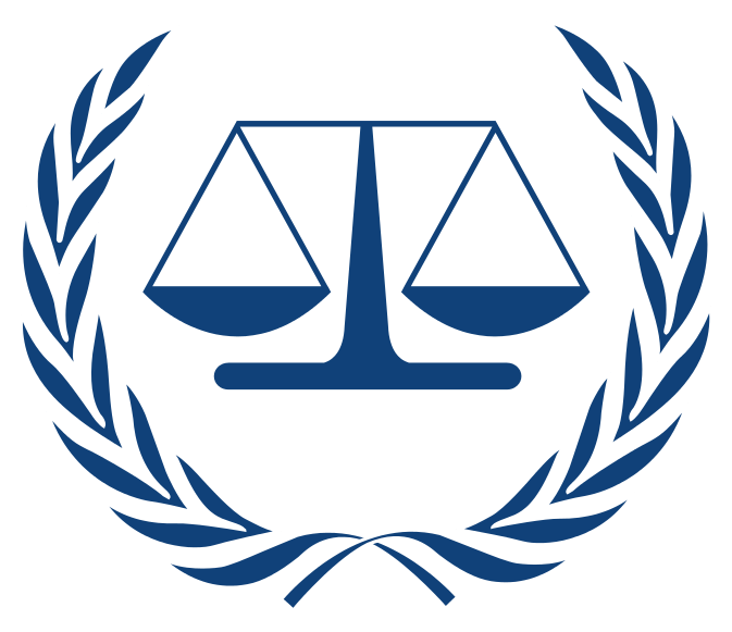 International Criminal Court logo  By Original uploader was de:Benutzer:Afrank99 - http://de.wikipedia.org/wiki/Datei:ICC-Logo.svg (German Wikipedia) Description and license moved from English Wikipedia, Public Domain, https://commons.wikimedia.org/w/index.php?curid=8454614